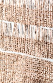 Matériaux de sac isolés sur blanc
