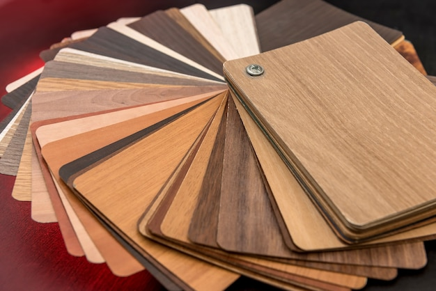 Matériel de chêne de plancher de bois franc pour la construction intérieure. catalogue d'échantillons de stratifiés ou de meubles pour la conception de la maison