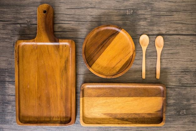 Matériel de cuisson en bois pour la nourriture et le plat cuit