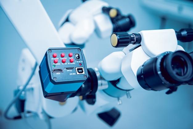 Matériel ophtalmique. laboratoire médical. technologie médicale moderne.