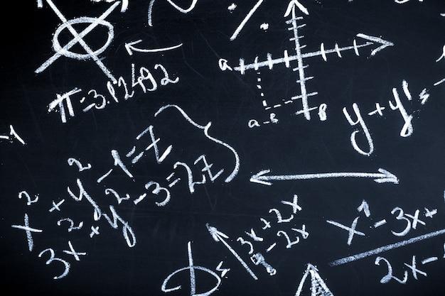 Maths sur tableau noir
