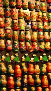 Matryoshka toy dolls