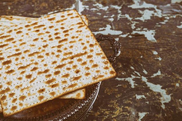 Matza juive sur pain sans levain pâque
