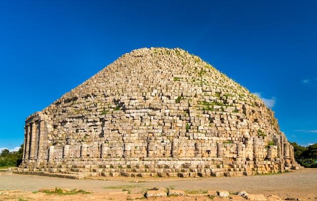 Le mausolée royal de maurétanie, monument funéraire en algérie
