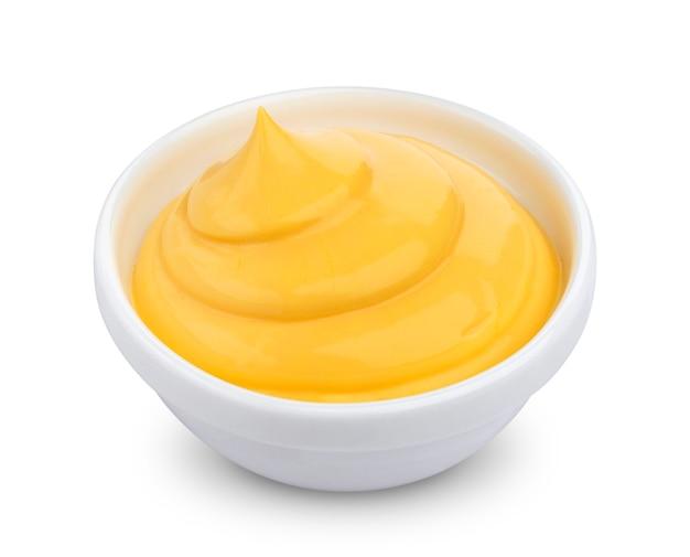 Mayonnaise isolé sur blanc