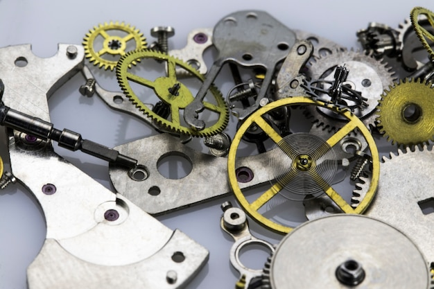 Mécanique mécanique ancienne haute résolution et détails