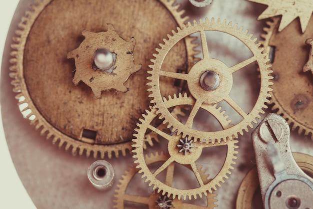 Mécanisme de montres mécaniques vintage, gros engrenages