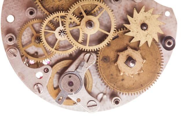 Mécanisme de montres mécaniques vintage isolated on white