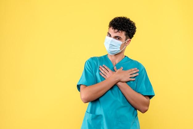 Médecin de face, le médecin parle de décès dus au coronavirus
