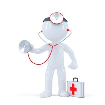 Médecin Avec Stéthoscope Photo gratuit