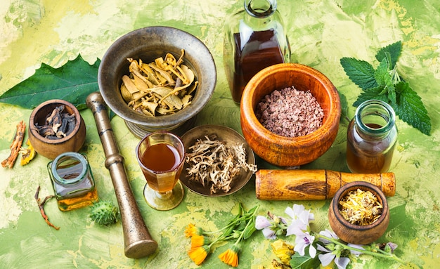 Médecine naturopathique à base de plantes