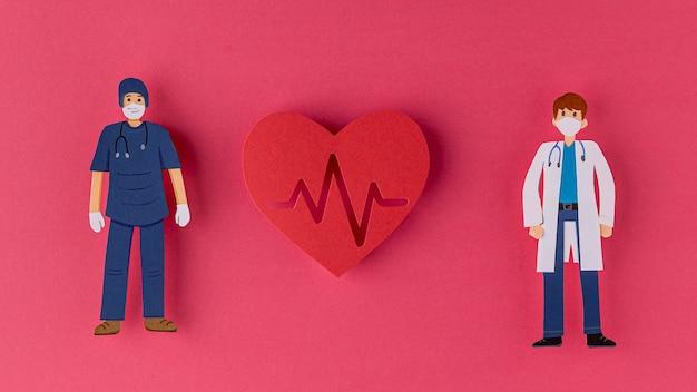 Médecins et foyer en papier