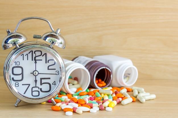 Médicament pilule et capsule