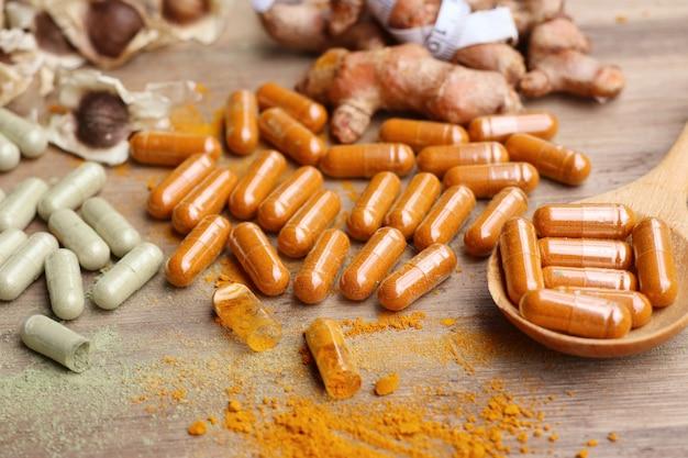 Médicaments à base de plantes en capsule