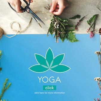 Méditation santé fleur de lotus concept graphique