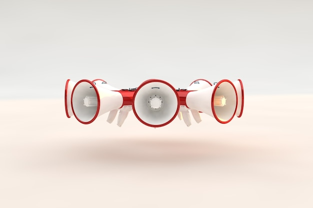 Megaphones conçoit un style pour l'avis ou l'annonce, la promotion d'un produit, d'un service ou d'un événement.
