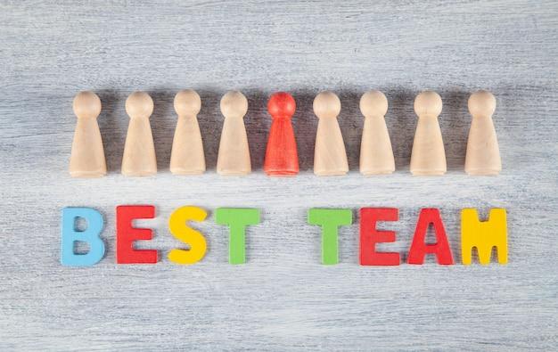 Meilleur concept d'équipe. entreprise. travail en équipe