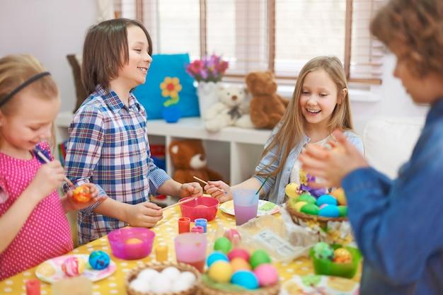 Le meilleur moment pour les enfants à pâques