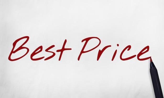 Meilleur prix offre promotion commerce marketing concept