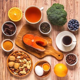 Meilleurs aliments pour stimuler votre cerveau et votre mémoire, vue de dessus.