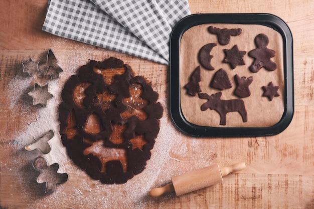 Mélange de biscuits au pain d'épice pour noël