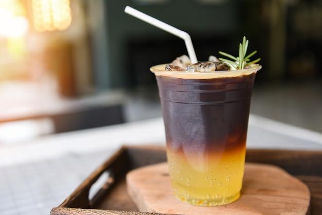 Mélange de café noir au sirop d'orange