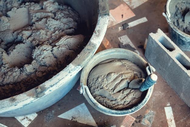 Mélange de ciment
