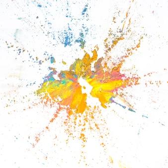Mélange de couleurs sèches vives et colorées