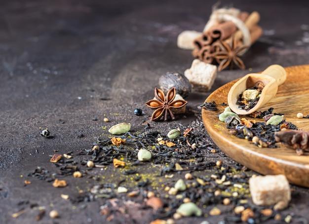 Mélange d'épices pour masala chai indien