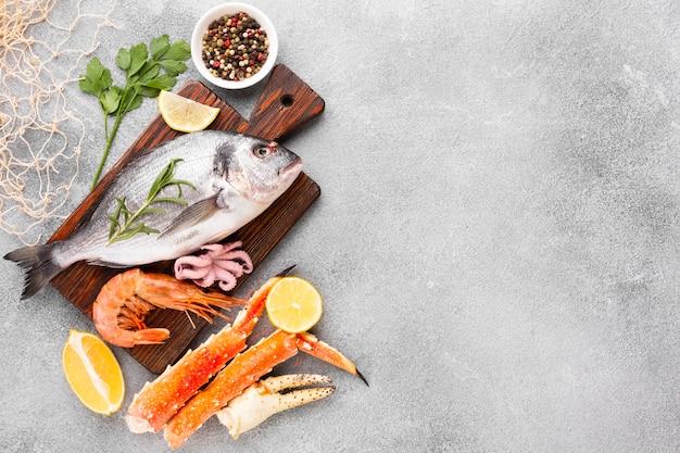 Mélange de fruits de mer délicieux