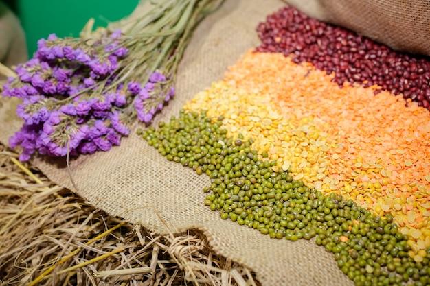 Mélange de haricots super alimentaire décoratif