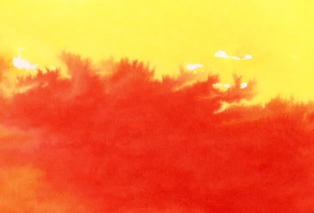 Mélange de jaune et de rouge