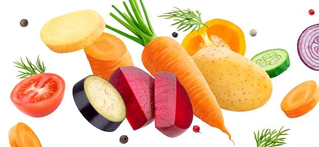 Mélange de légumes isolé