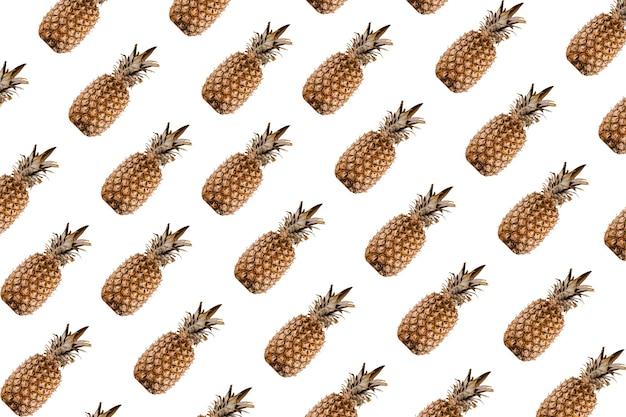 Mélange de motifs d'ananas d'agrumes tropicaux.