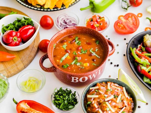 Mélange de nourriture mexicaine