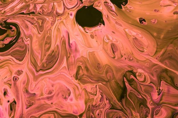 Mélange de peinture rose vue de dessus