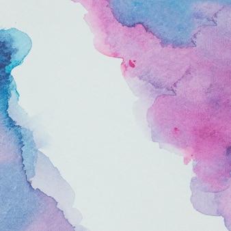 Mélange de peinture translucide sur papier
