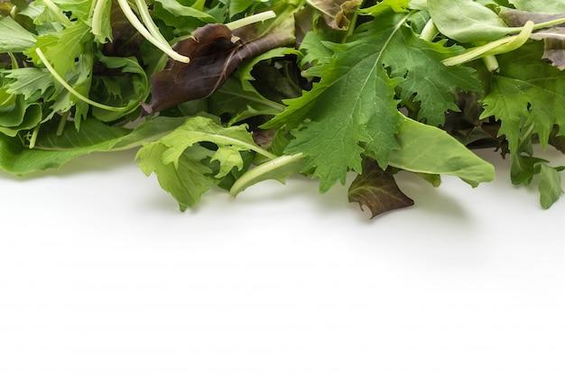 Mélange de salade avec rucola, frisee, radicchio et laitue d'agneau