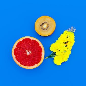Mélange tropical. fruit. style minimaliste