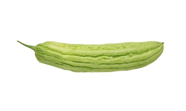 Melon amer isolé sur fond blanc. gourde amère
