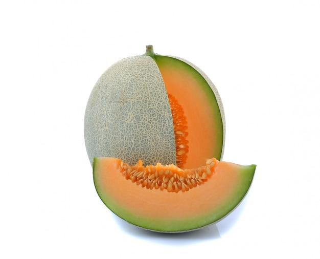 Melon sur blanc