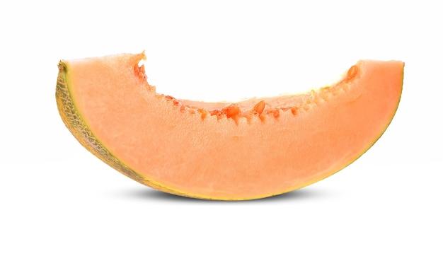 Melon cantaloup sur fond blanc