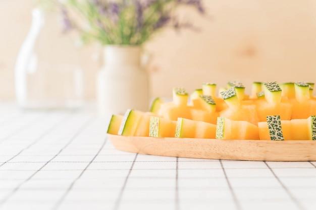 Melon cantaloup frais