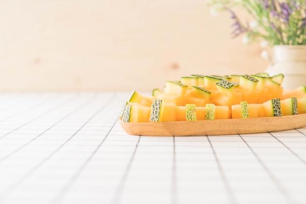 Melon de cantaloup frais