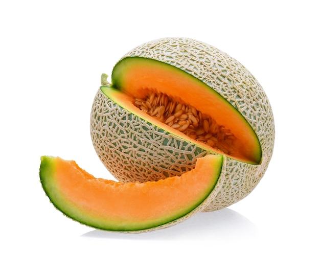 Melon cantaloup isolé