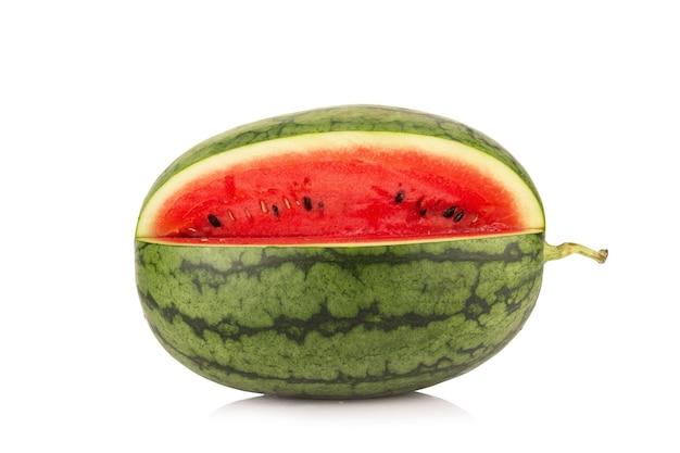 Melon d'eau sur fond blanc