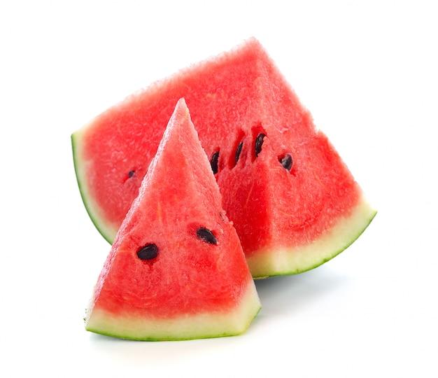 Melon d'eau fraîche isolé sur blanc