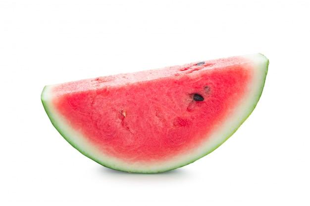 Melon d'eau fraîche isolé sur fond blanc