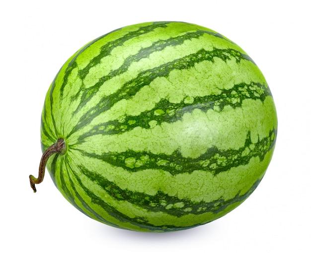 Melon d'eau isolé sur blanc avec un tracé de détourage