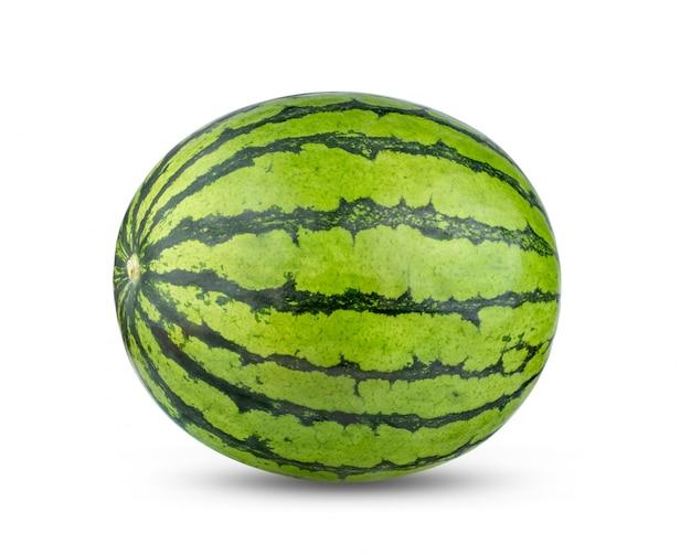 Melon d'eau isolé sur fond blanc